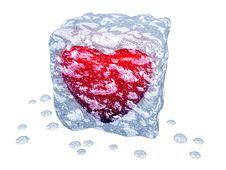 Free Ice Cube With Red Heart Royalty Free Stock Photos - 18000838