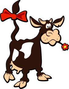 Free Cartoon Cow Royalty Free Stock Photo - 18002035