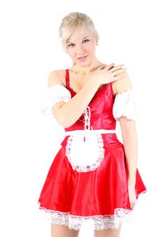 Free Woman In French Maid Outfit Royalty Free Stock Image - 18002546