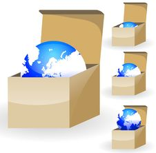 Free Globe In Box Royalty Free Stock Photography - 18002587