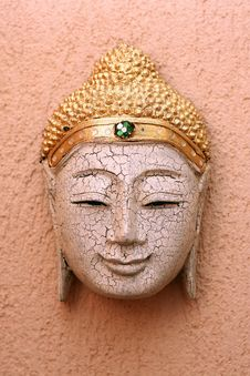 Free Handcrafted Wooden Buddha Face Stock Images - 18002834