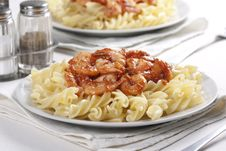 Free Pasta With Tomato And Prawns Stock Image - 18002971