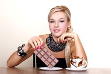 Free Woman With Cup Of Chocolate Royalty Free Stock Photos - 18003178