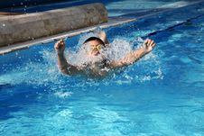 Free Boy In The Pool Stock Photography - 18003192