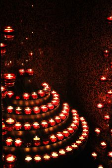 Free Red Candle Stock Photography - 18003702