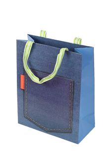 Free Jeans Paper Bag Stock Image - 18003861