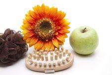 Free Massage Brush With Apple Stock Image - 18004011