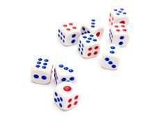Free Nine Dice I Stock Image - 18004521