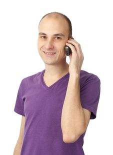 Free Young Casual Man On The Phone Stock Photos - 18004603