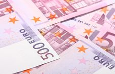 Free Five-hundredth Euro Banknotes Royalty Free Stock Photography - 18004667