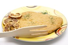 Free Escalope Raw With Lemon Royalty Free Stock Photo - 18004675