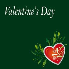 Card On The Day Of Valentine S Day Royalty Free Stock Images