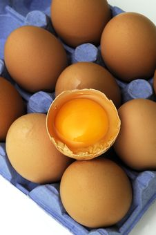 Free Eggs In Tray. Royalty Free Stock Photos - 18005038