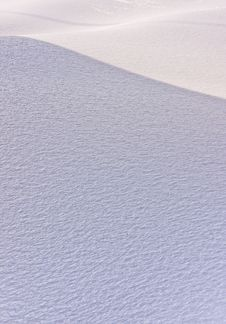 Crusted Ice Curves Stock Image