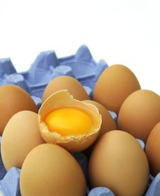 Free Eggs In Paper Tray. Royalty Free Stock Photos - 18005058