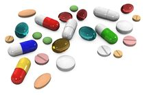 Free 3d Pills On A White Background Stock Images - 18005084