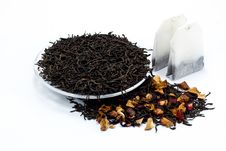Black Tea Leaves With Dried Fruit Tea Royalty Free Stock Image