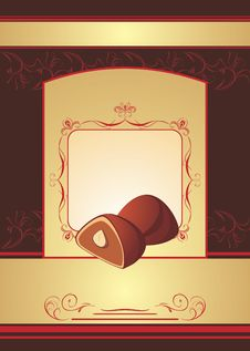 Free Chocolate Truffle. Background For Wrapping Stock Image - 18005781