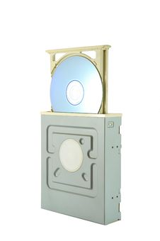 DVD Drive With DVD Royalty Free Stock Images