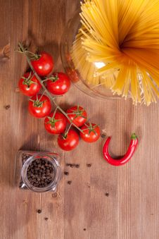 Free Pasta, Pepper And Tomato Stock Photos - 18006343