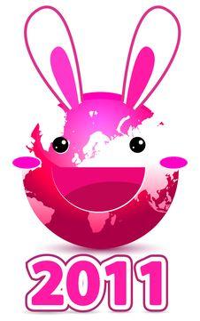 Free Rabbit Globe Royalty Free Stock Image - 18006726
