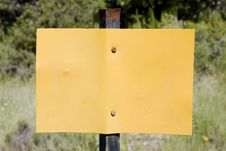 Free Empty Yellow Sign Stock Images - 18008774