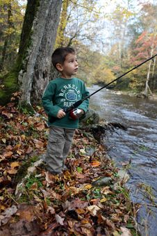 Boy Fishing Royalty Free Stock Photos