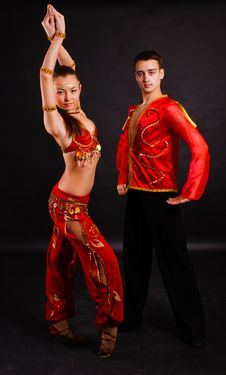 Beautiful Young Dancers Royalty Free Stock Photo