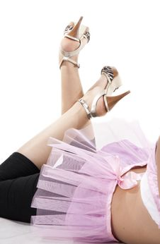 Free Lady In Pink Skirt And Heels Royalty Free Stock Photography - 18009337