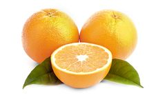 Free Oranges And Leafs Royalty Free Stock Photo - 18009355