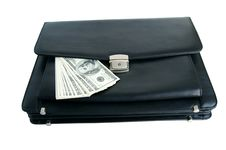Free Black Briefcase And Money Royalty Free Stock Image - 18009356