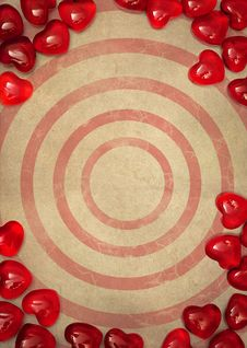 Free Paper And Red Hearts Royalty Free Stock Photos - 18009608