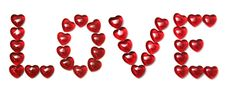Free Love Is Made Of Small Glass Hearts Royalty Free Stock Photo - 18009625