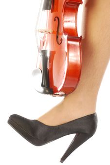 Women And Musical Instrument 006 Royalty Free Stock Photography