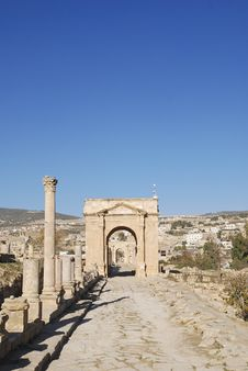Free North Gate In Jerash, Jordan Royalty Free Stock Photography - 18009897