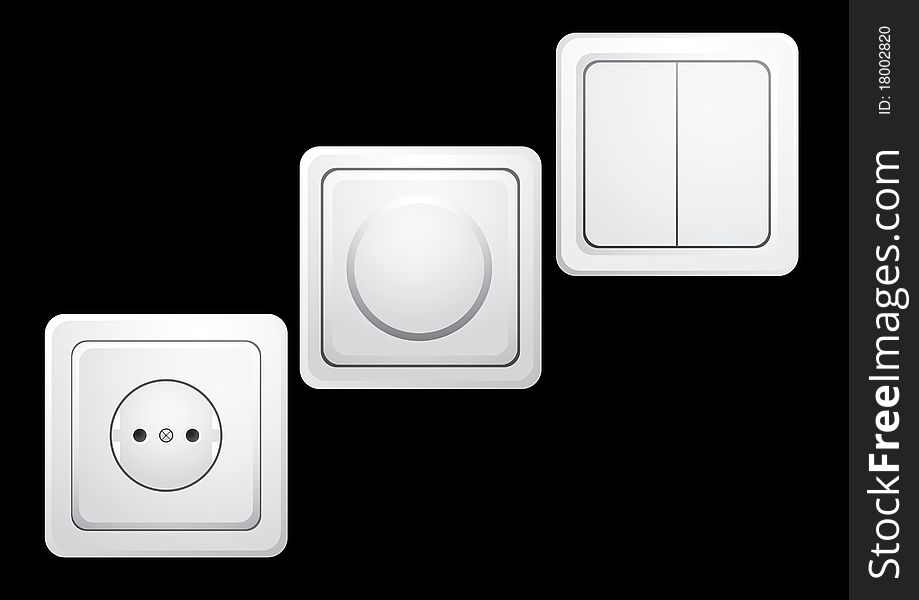 Sockets and switches.