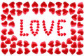 Free Word Love In A Framework From Red Hearts Stock Photos - 18011443