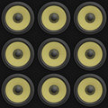 Free 3d Render Of A Tile Able 3x3 Array Of Speakers Royalty Free Stock Image - 18016676
