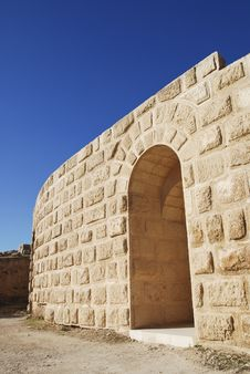 Free Entrance Of North Theatre In Jerash, Jordan Stock Photography - 18010002