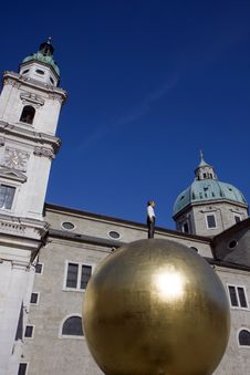 The Dome Cathedral In Salzburg, Austria Stock Photo