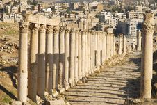 Free Street Of Columns In Jerash, Jordan Stock Images - 18010144