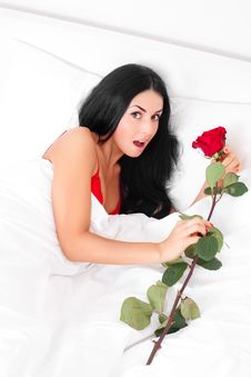 Free Woman With A Rose Royalty Free Stock Images - 18010369