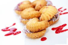 Butter Biscuits With Jam Royalty Free Stock Photography