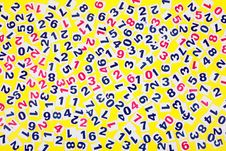 Free Numeral On A Yellow Background Royalty Free Stock Photos - 18011218