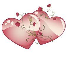Free Valentine Hearts Royalty Free Stock Photo - 18011245