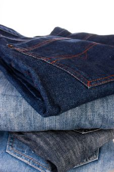 Free Stack Of Jeans Royalty Free Stock Image - 18011306