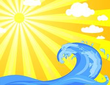 Free Ocean Wave Royalty Free Stock Photos - 18011308