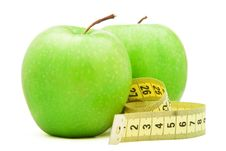 Free Green Apple With Centimeter. Royalty Free Stock Photo - 18012575