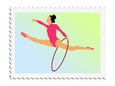 Free Gymnastics. Vector Stamp Stock Images - 18012954
