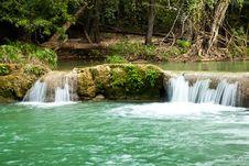 Free Waterfall Scene Of Thailand Stock Image - 18013331